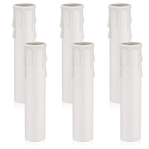 Dicuno E12 Candle Socket Covers 4, Chandelier Candle Covers Sleeves