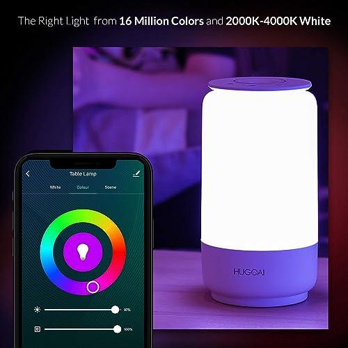 Smart LED Table Lamp, HUGOAI Nursery Night Light for Kids ...