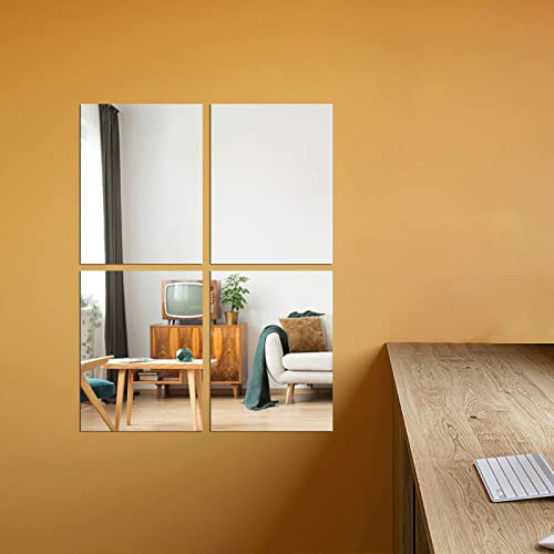 Mirror Tiles Wall Stickers, Glass Mirror Wall Tiles