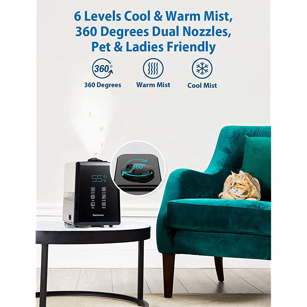 Elechomes UC5501 Humidifier 6L Vaporizer Warm and Cool ...