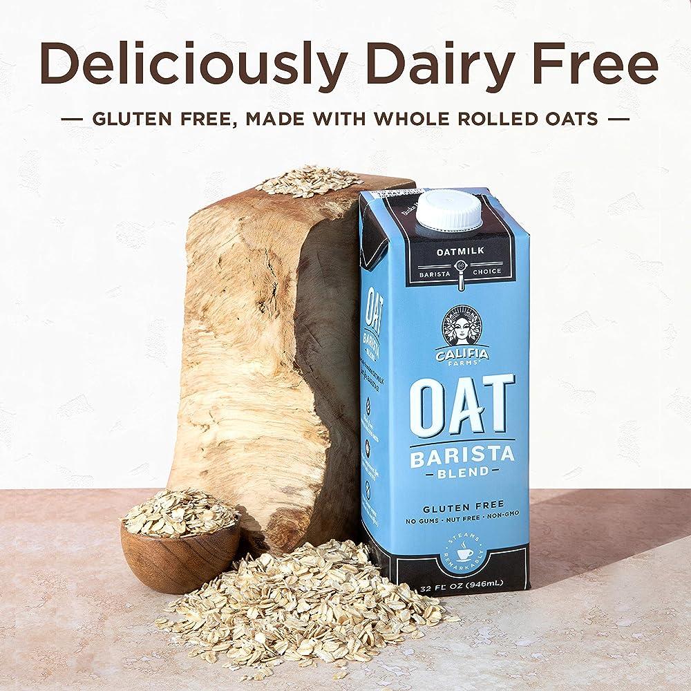 Califia Farms Oatmilk Barista Blend, Dairy Free, Whole30 ...