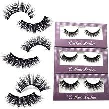 a731460dc6e Cuckoo Lashes 100% Handmade 3D Faux Mink Lashes Individual Korean Silk  False Eyelashes 3 Pairs