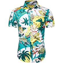 bea8345f 2019 Trend Men's Hawaiian Shirt, Mitiy Button Down Party Casual Holiday
