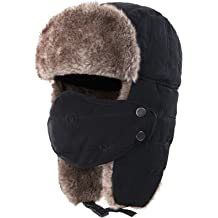 e346b7374abc3d Connectyle Warm Trapper Hat Windproof Winter Russian Hats with Mask Ushanka  Hat